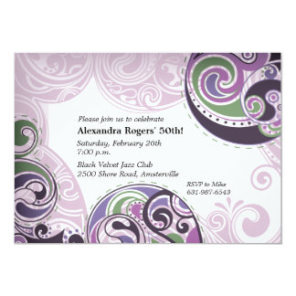 Paisley Curves Invitation