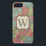 "Paisley Cyngalese iPhone 8 Plus/7 Plus Case<br><div class=""desc"">Personalize your Phone with this inspirational paisley design colored in a calming retro color palette.</div>"