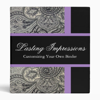 Paisley Damask Binder