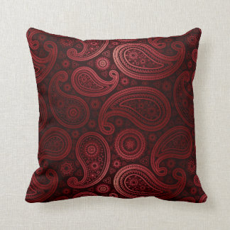 Paisley Deluxe | burgundy Pillow