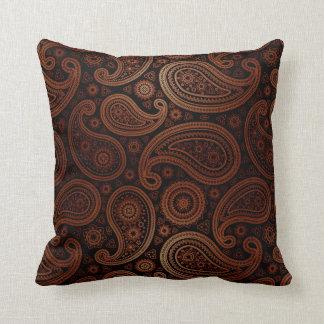 Paisley Deluxe | espresso brown Throw Pillow