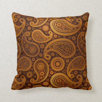 Paisley Deluxe | gold Throw Pillow