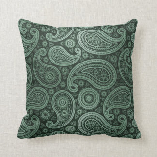 Paisley Deluxe | mint green Throw Pillows
