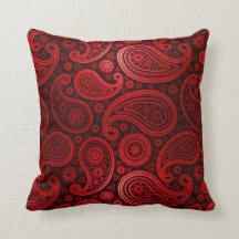 Paisley Deluxe | ruby red Pillow