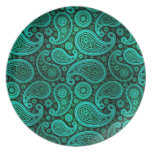 Paisley Deluxe | teal Plate