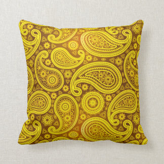 Paisley Deluxe | yellow Pillow