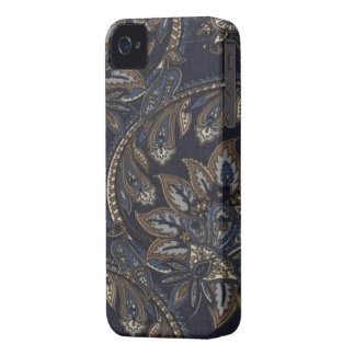 Paisley Denim Print Blackberry Bold 9700/9780 iPhone 4 Cover