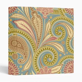 Paisley design 3 ring binder