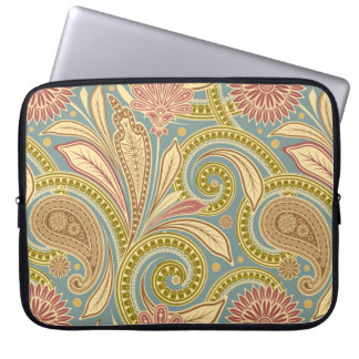 Paisley design laptop computer sleeve