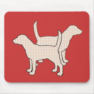 Paisley dogs mouse pad