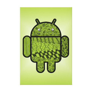 Paisley Doodle Character for Android™ Canvas Print