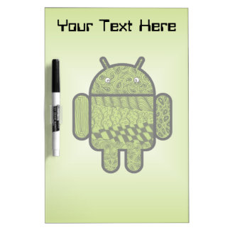 Paisley Doodle Character for Android™ Dry-Erase Board