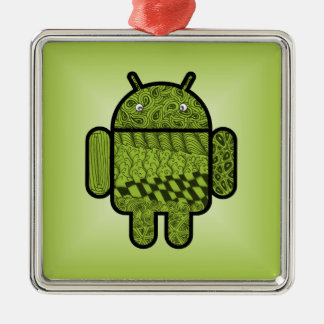 Paisley Doodle Character for Android™ Metal Ornament