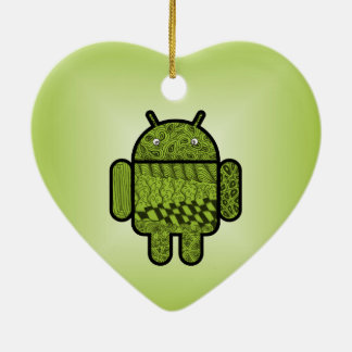 Paisley Doodle Character for Android™ Christmas Ornament