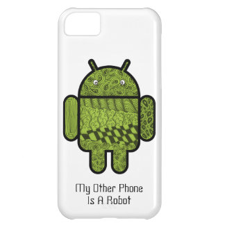 Paisley Doodle Character for the Android™ robot Cover For iPhone 5C