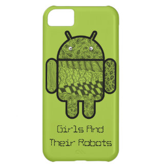 Paisley Doodle Character for the Android™ robot iPhone 5C Case