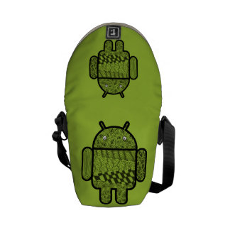 Paisley Doodle Character for the Android™ robot Messenger Bag