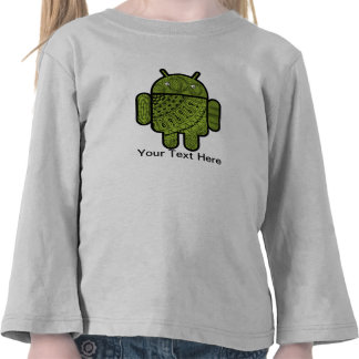 Paisley Doodle Character for the Android™ robot Tees