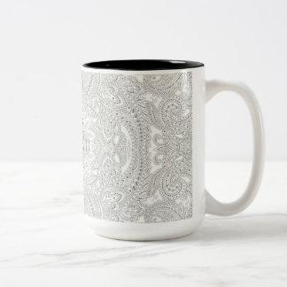 Paisley Dots Two-Tone Coffee Mug
