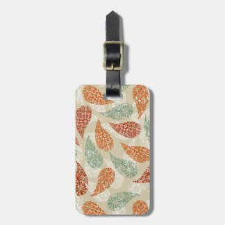 Paisley Earth Tones Tag For Luggage