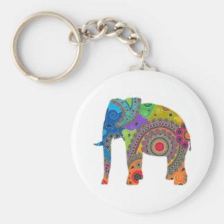 Paisley Elephant Keyring