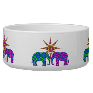 Paisley Elephant Pet Bowl
