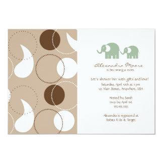 Paisley & Elephants Baby Shower Invitation