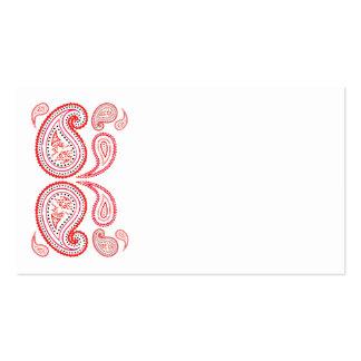 Paisley en anaranjado y rosado - diseño de Oriente Tarjetas De Visita