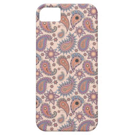 Paisley en rosa iPhone 5 carcasas