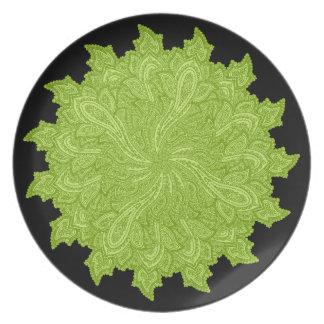 Paisley en verde plato