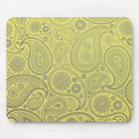 Paisley fabric vintage look mouse pad