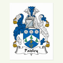 Paisley Family Crest Postcard