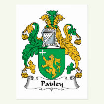 Paisley Family Crest Postcard