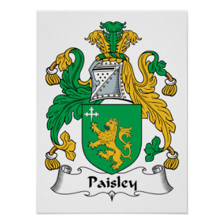 Paisley Family Crest Print