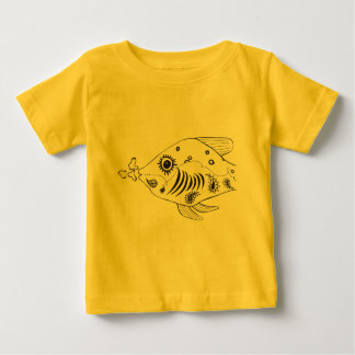 Paisley Fish Baby T-Shirt