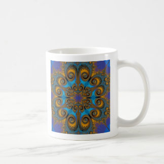 paisley flake fractal pattern coffee mug