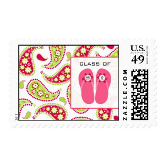 Paisley & Flip Flops Class of 2012 Postage Stamp
