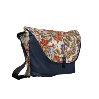 Paisley floral bolsas messenger