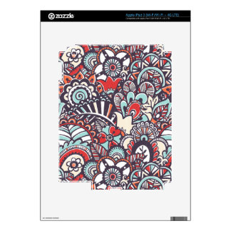 Paisley Floral Doodle Pattern iPad 3 Skin