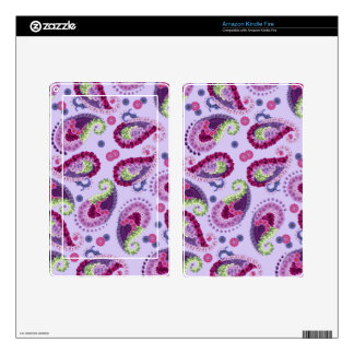 Paisley Floral Fantasy Skin For Kindle Fire