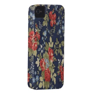Paisley Floral French roses Case-mate Iphone 4 Case