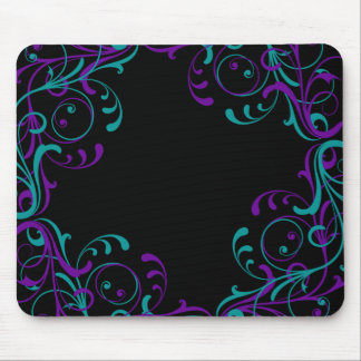 Paisley Floral Henna Curves Mouse Pad