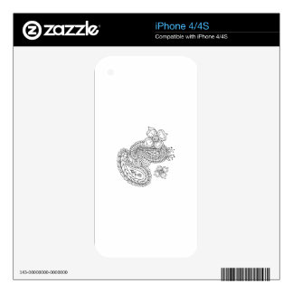 Paisley Floral iPhone 4S Skin