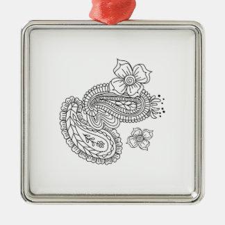 Paisley Floral Metal Ornament