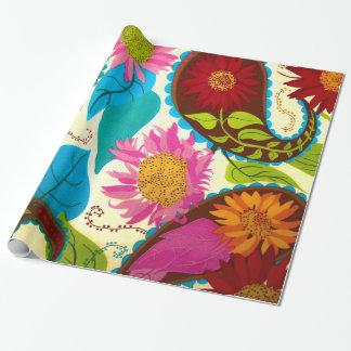 Paisley floral papel de regalo