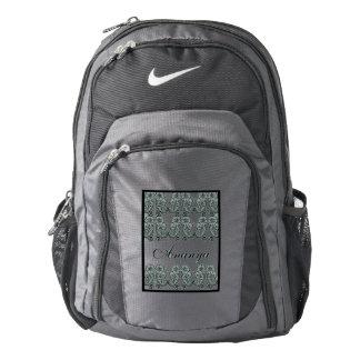 Paisley Flower (Black) Nike Backpack
