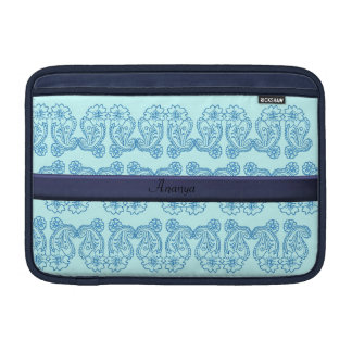 Paisley Flower (Blue) MacBook Sleeve