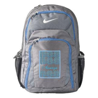 Paisley Flower (Blue) Nike Backpack