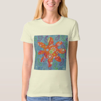 Paisley flower collage - Customized T-Shirt