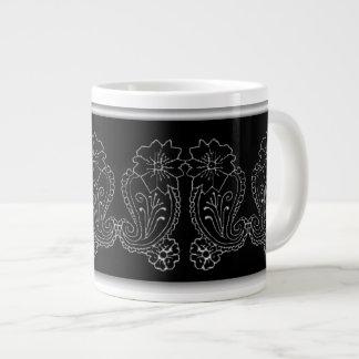 Paisley Flower Giant Coffee Mug